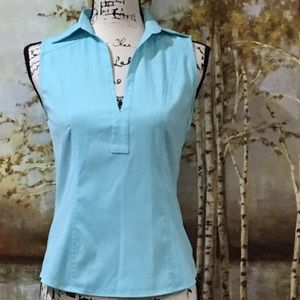 EXPRESS EUC Figure Flattering Princess Cut Top
